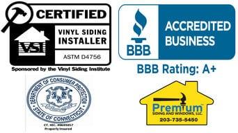 Certified Vinyl Siding Installers CT
