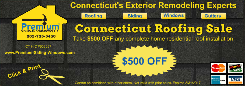 March 2017 Roofing Coupon CT